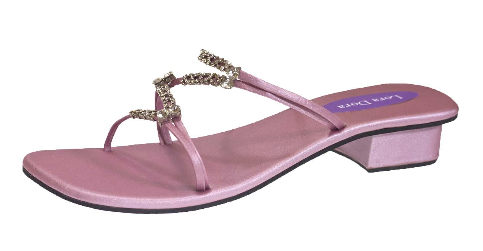 Womens Diamante Sandals Strappy Wedding Bridal Shoes Low Block Heels Ladies Size