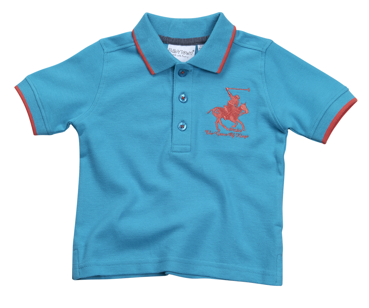 Baby boys polo shirt t shirt summertop short sleeve button for Toddler boys polo shirts