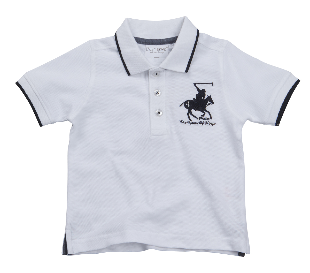 Baby boys polo shirt t shirt summertop short sleeve button for Button collar t shirt