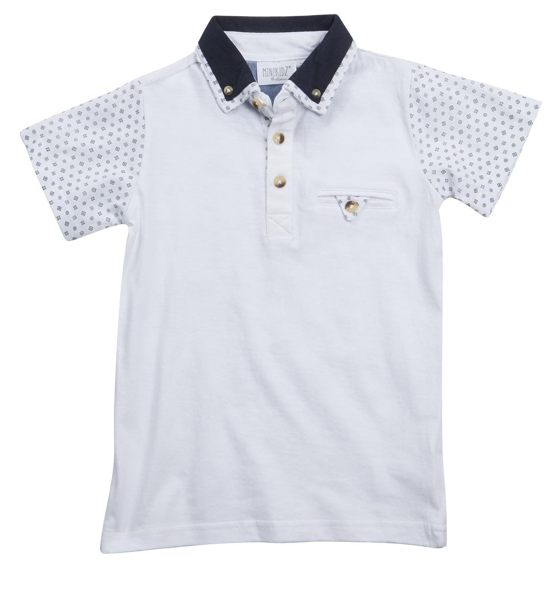 Boys polo shirt t shirt summertop short sleeve button down for Button collar t shirt