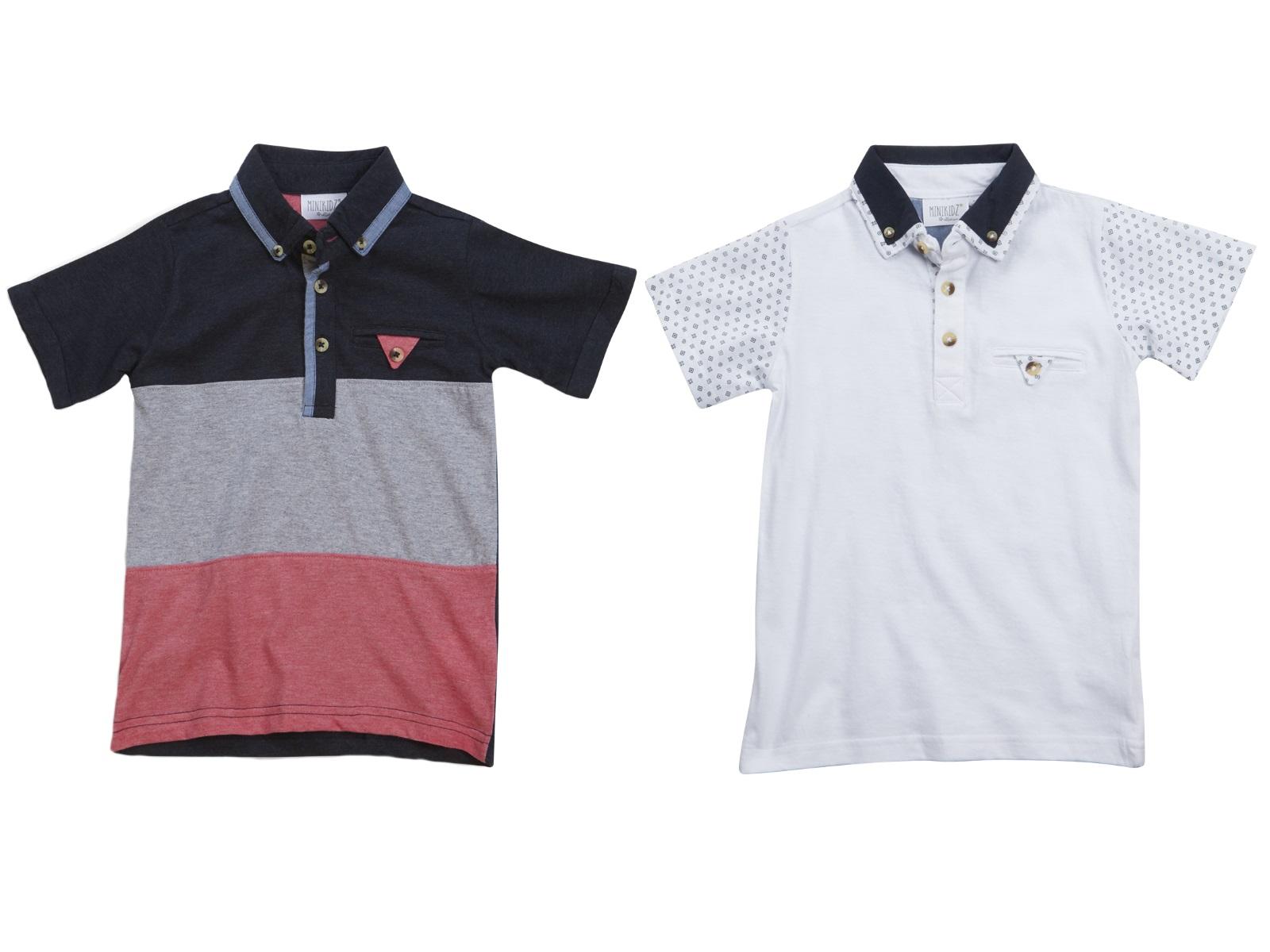 Boys Polo Shirt T-Shirt SummerTop Short Sleeve Button Down ...