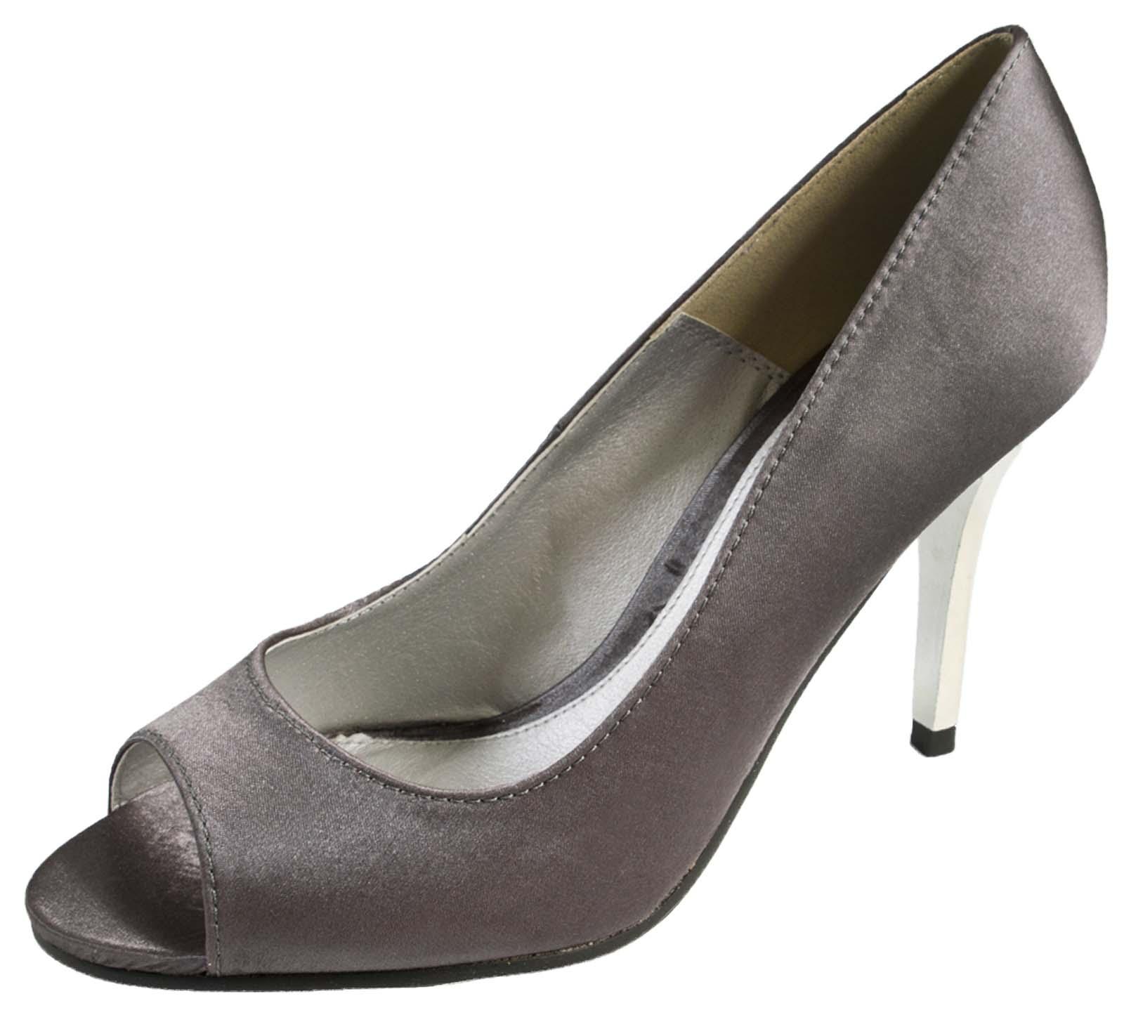 womens satin peep toe sandals with mirror heel stiletto. Black Bedroom Furniture Sets. Home Design Ideas