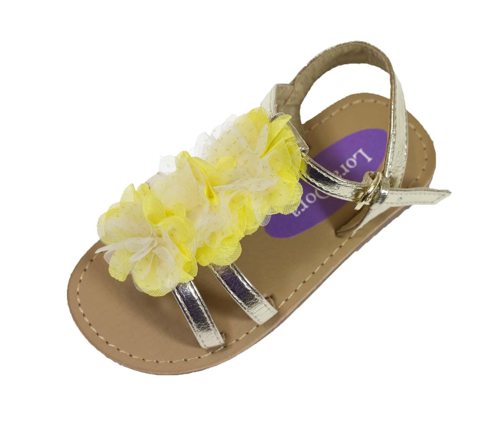 Niños Chicas De Verano Sandalias Niños Playa Zapatos Flor Partido Flats Talla Uk 4 - 12