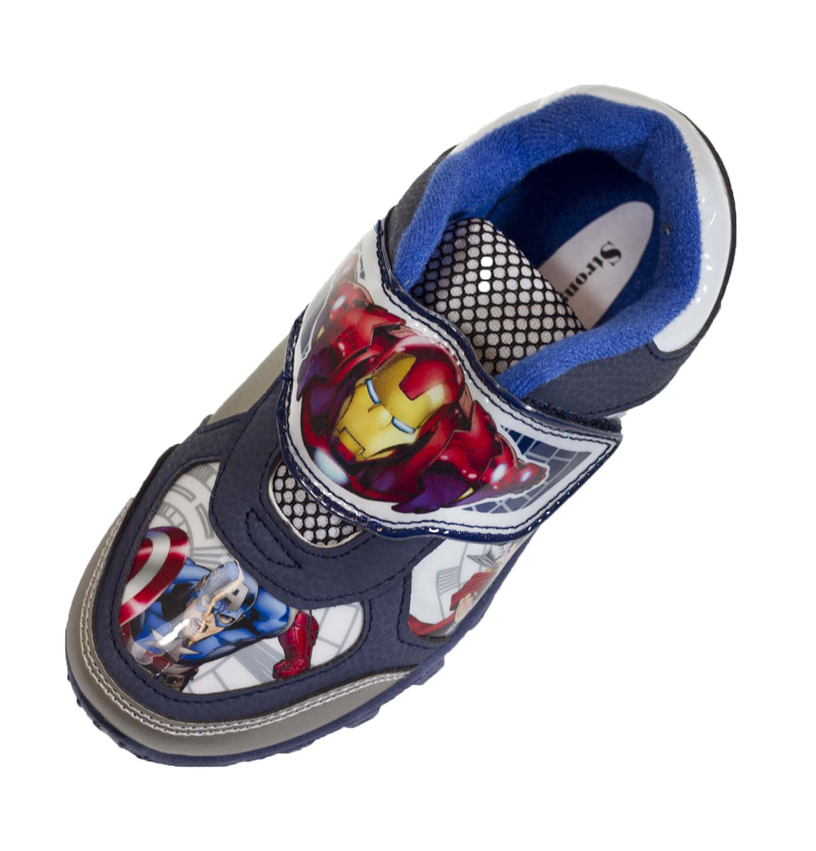 boys marvel skate trainers flat sports shoes