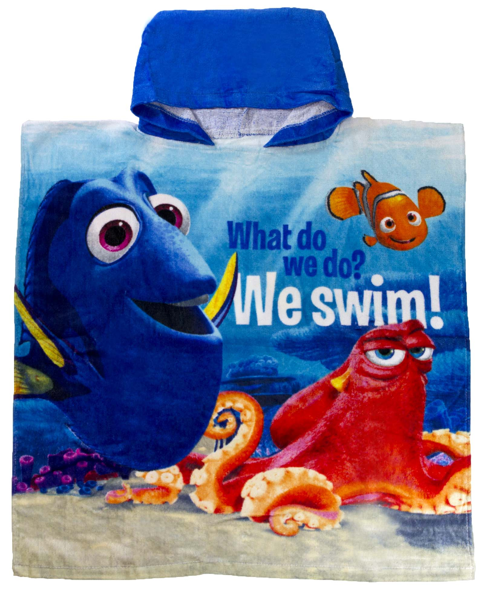 Finding Nemo Bath Towel Set: Disney Finding Dory Hooded Beach Towel Bath Poncho