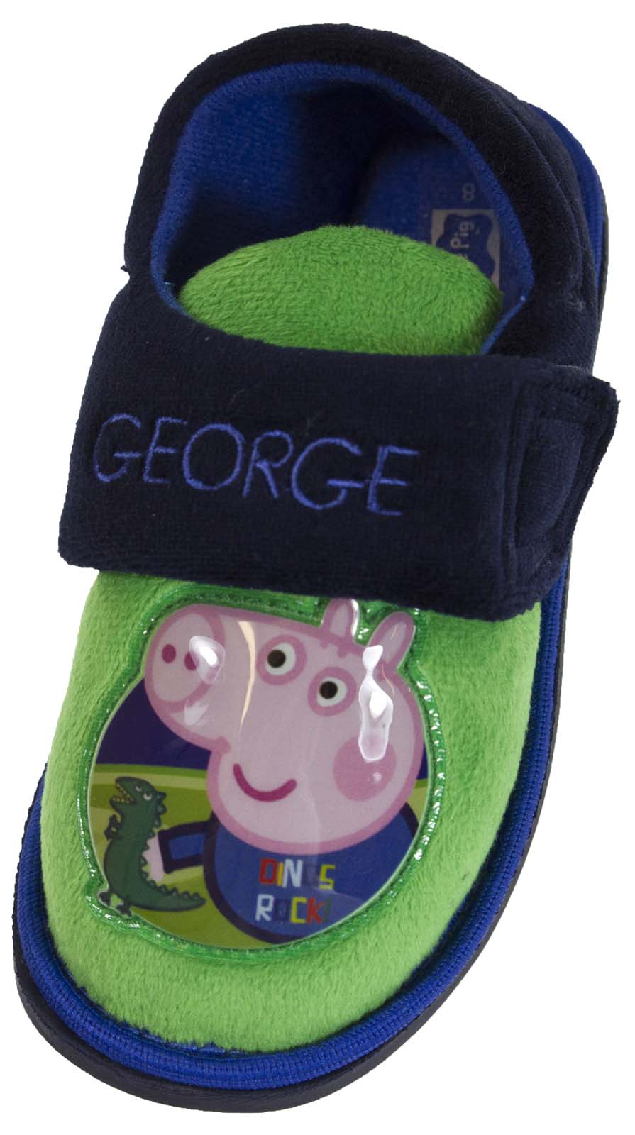 Kids Boys Peppa Pig George Novelty Slippers Fleece Character Gift Size UK 4-10