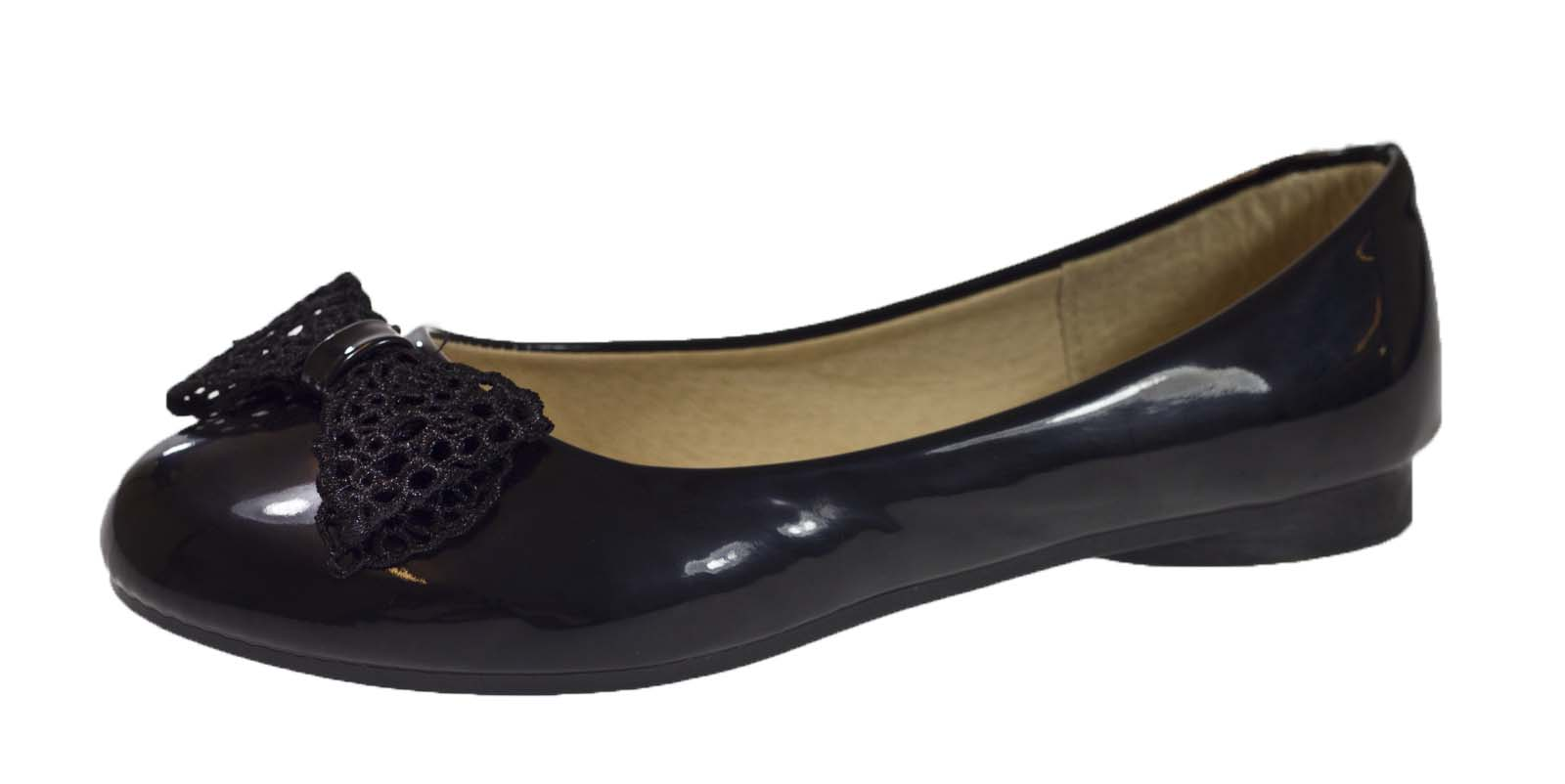 womens faux patent leather ballet pumps flat ballerinas