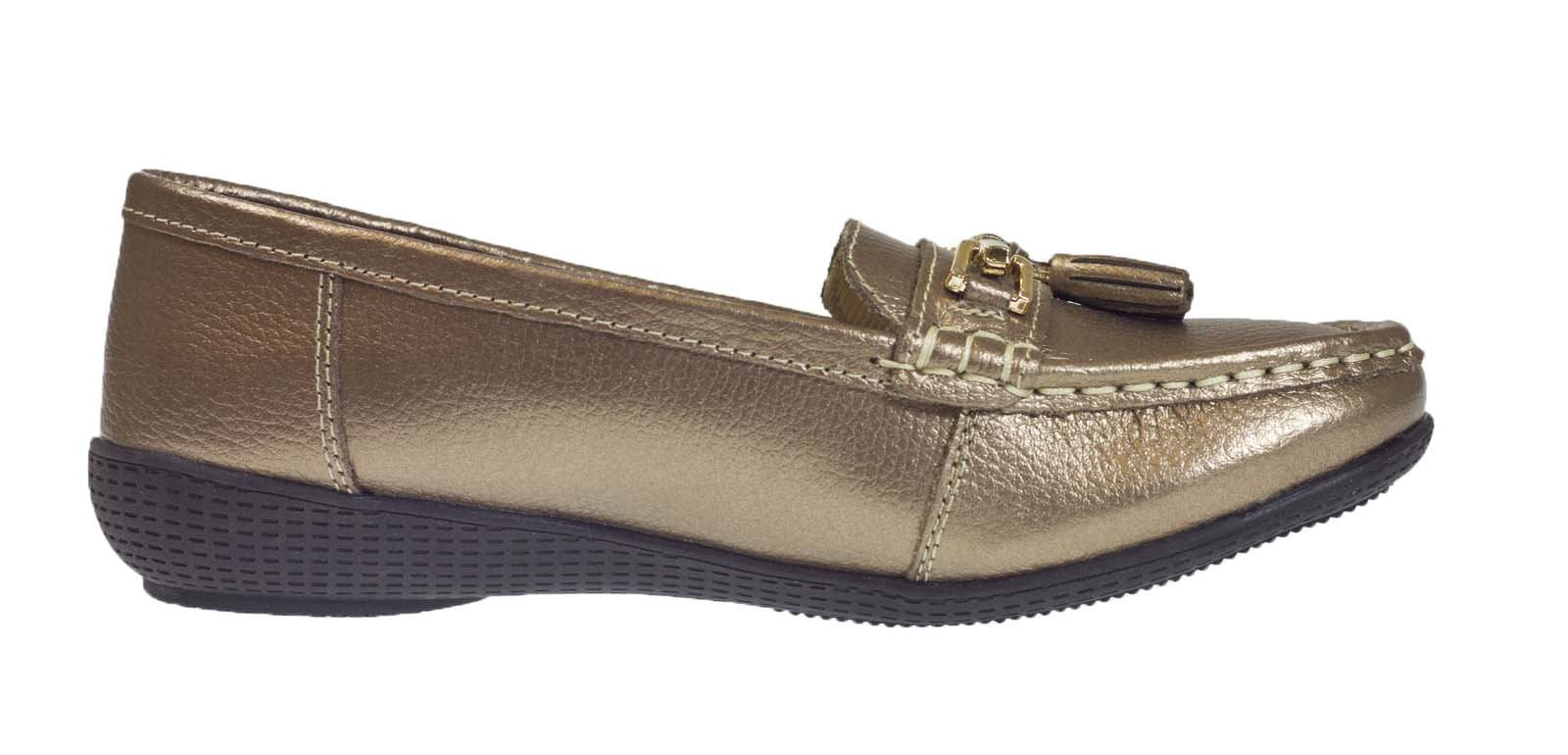 womens leather driving comfort shoes moccasins cushioned