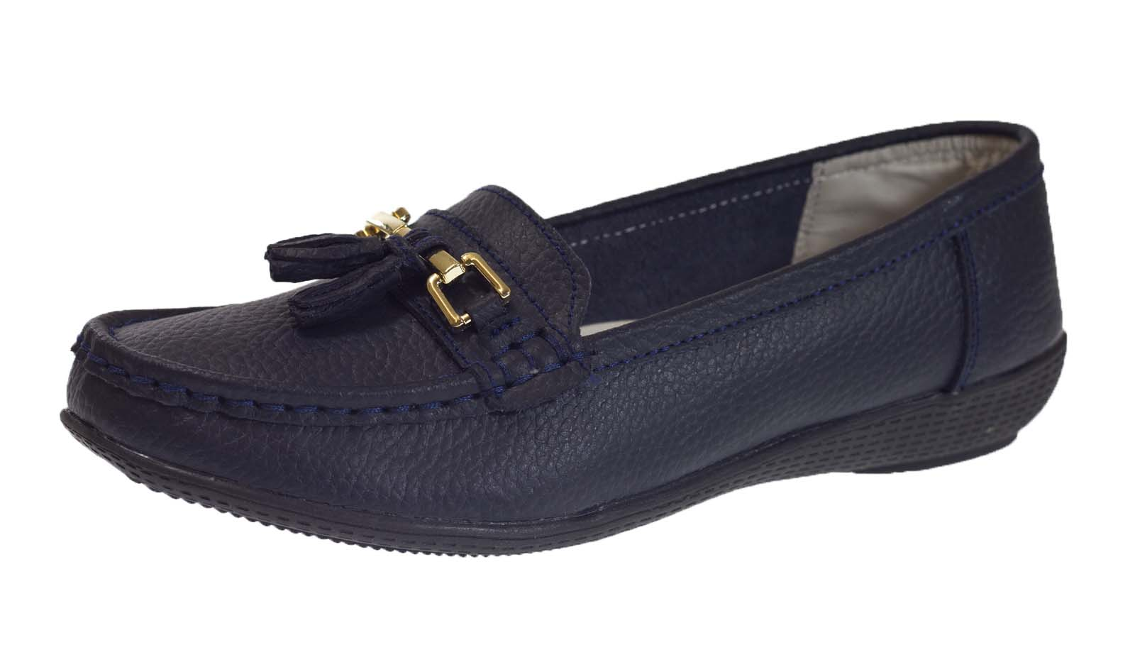 Ladies Navy Shoes Size