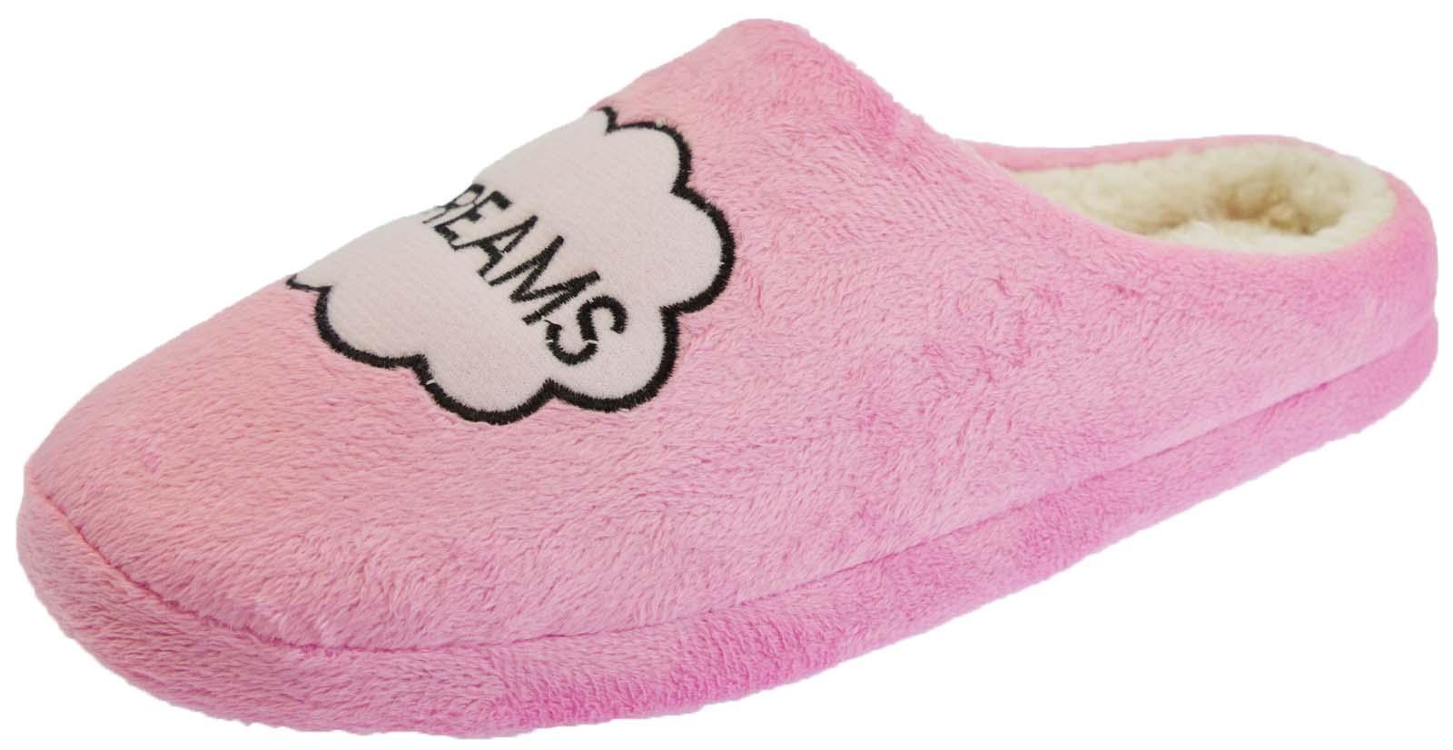 Para Mujer Piel Forrada Pantuflas Zapatos Acolchado Slip On Mulas Novedad Regalo Damas Tamaño