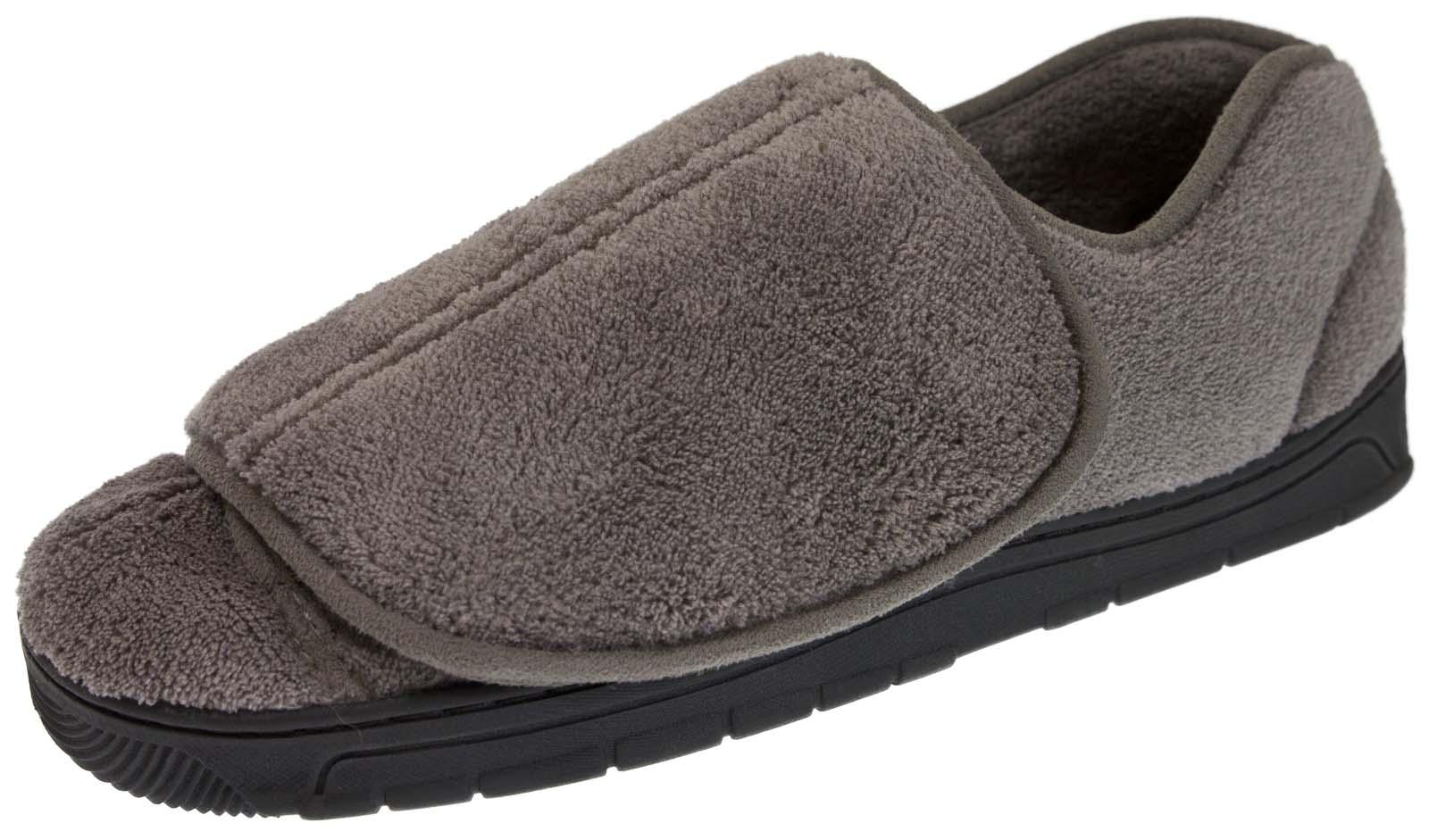 mens wide fit slippers orthopaedic diabetic