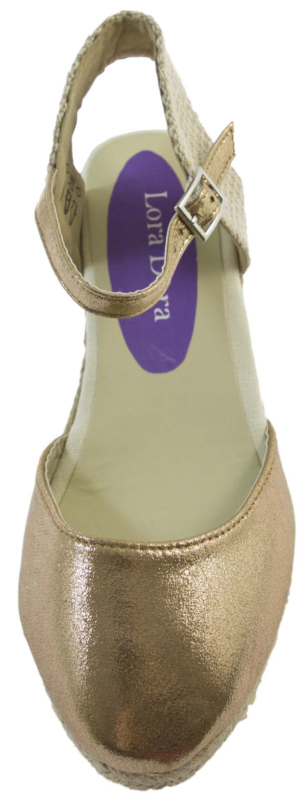 Womens Strappy Hessian Wedge Sandals Platforms Full Toe Ladies Summer Shoes Size