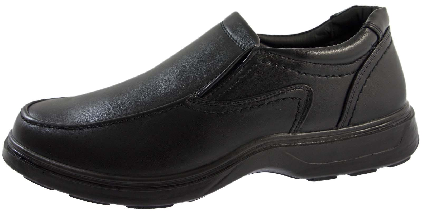 Mens Wide Fitting Comfort Shoes Formal Flexible Sole Work ...