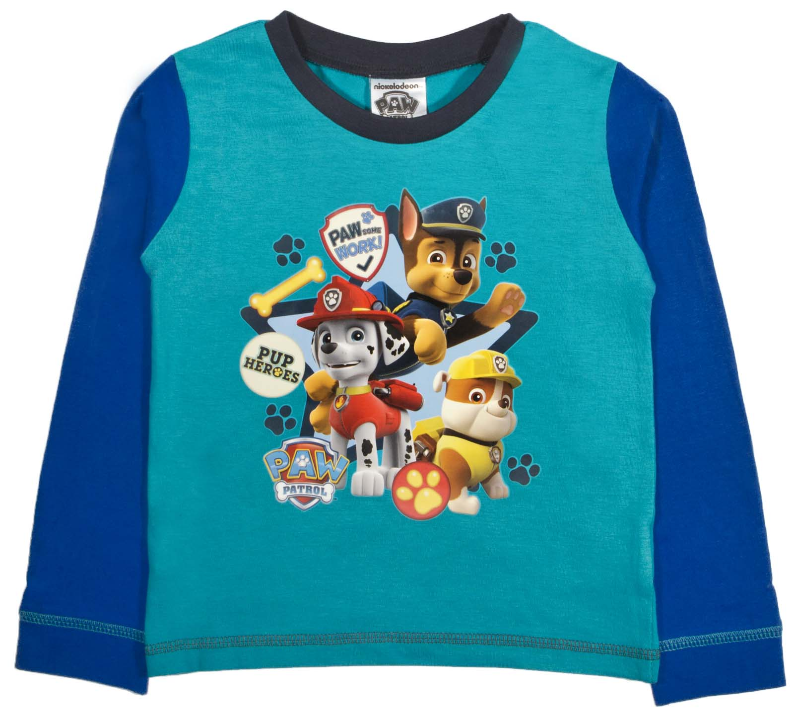 Nickelodeon Paw Patrol Pyjamas Boys Girls 2 Piece Full Length Pjs Set Kids Size