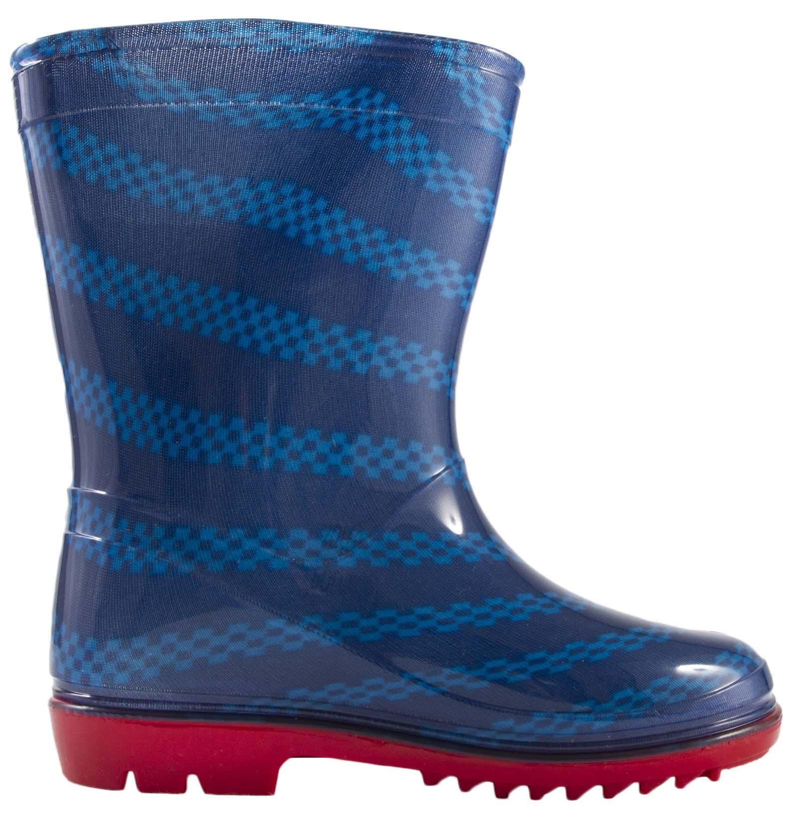 Kids Boys Disney Cars Lightning McQueen Wellies Rain Snow Winter Boots Size 5-12