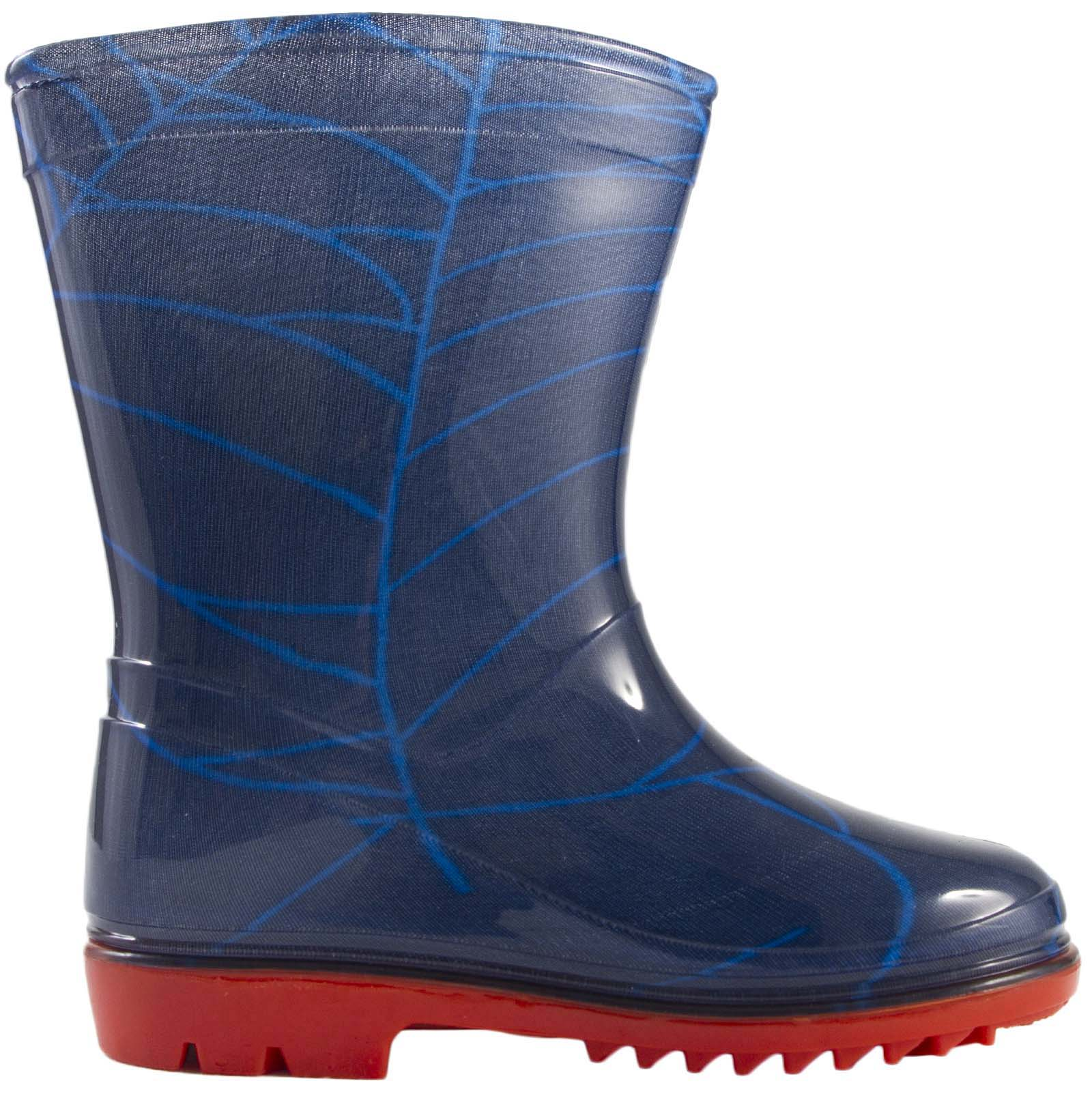 KIDS BOYS MARVEL SPIDERMAN SNOW WINTER BOOTS WELLIES