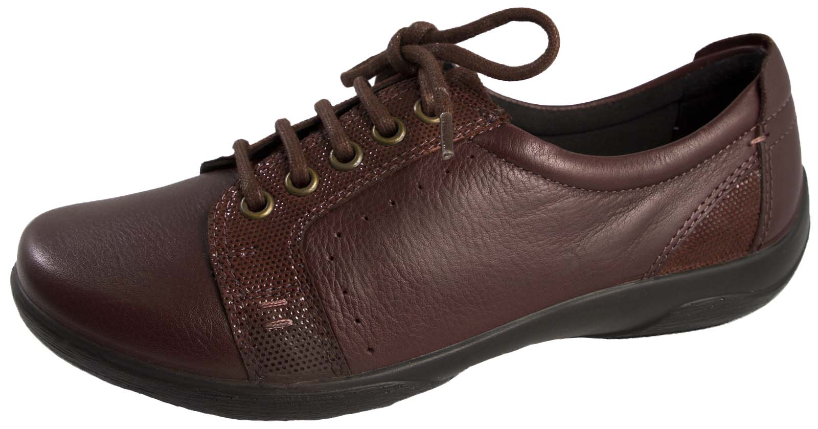 Padders Womens Leather Comfort Shoes Wide Fitting Lace Up ...