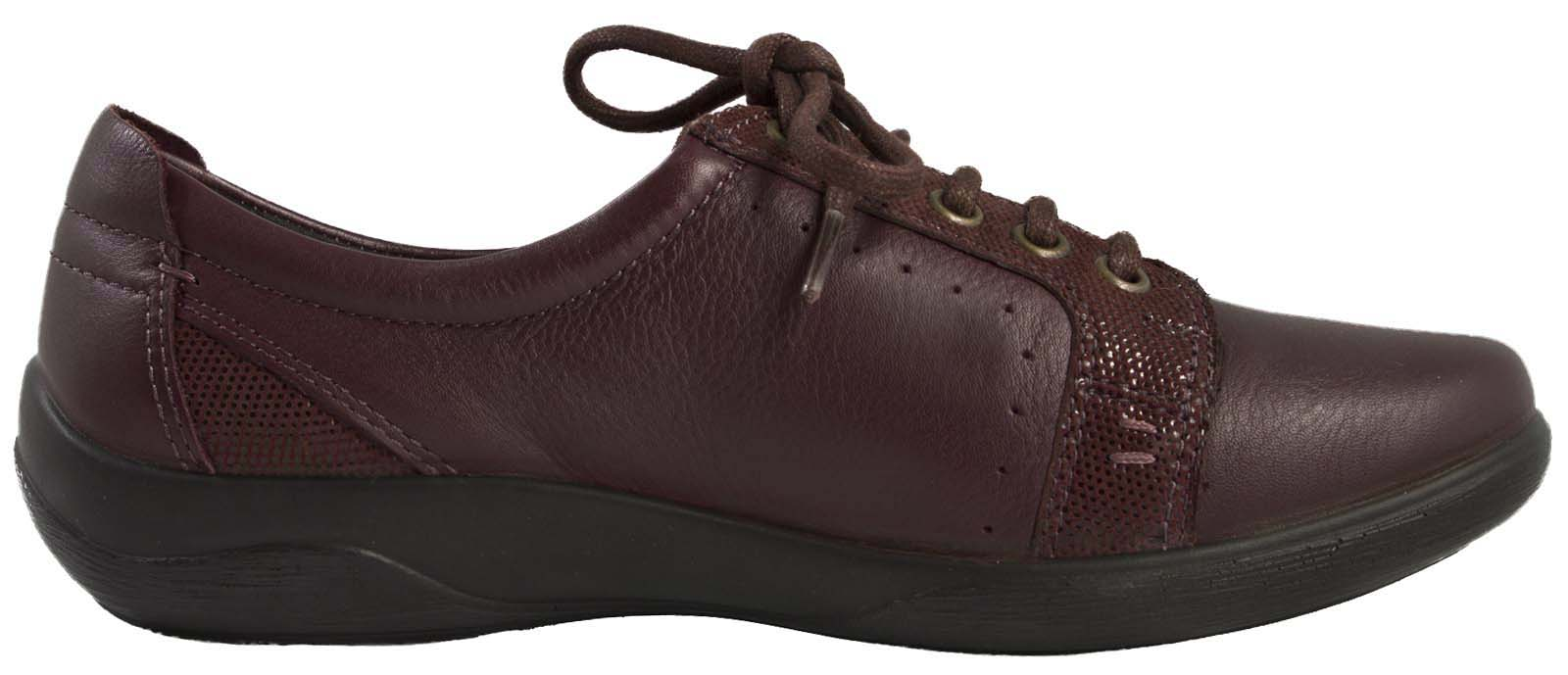 Black Leather Comfort Shoes  W Lace Up