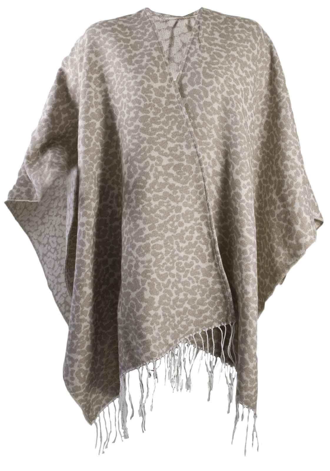 Womens Warm Winter Shawl Poncho Wrap Knitted Cape Scarf