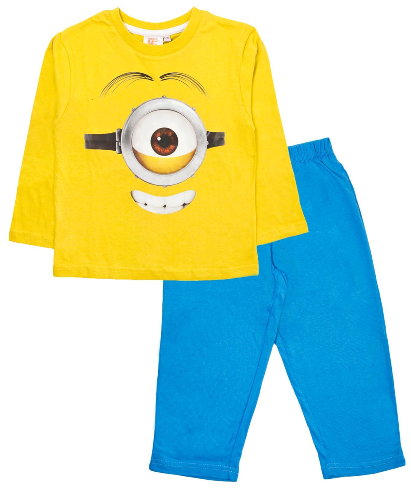 Ragazzi Minion Pigiama 100/% COTONE CATTIVISSIMO ME piena lunghezza Pjs Kids Nightwear