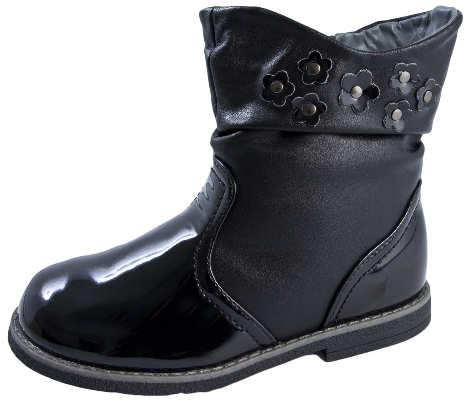 faux leather boots warm winter fleece lined slouch