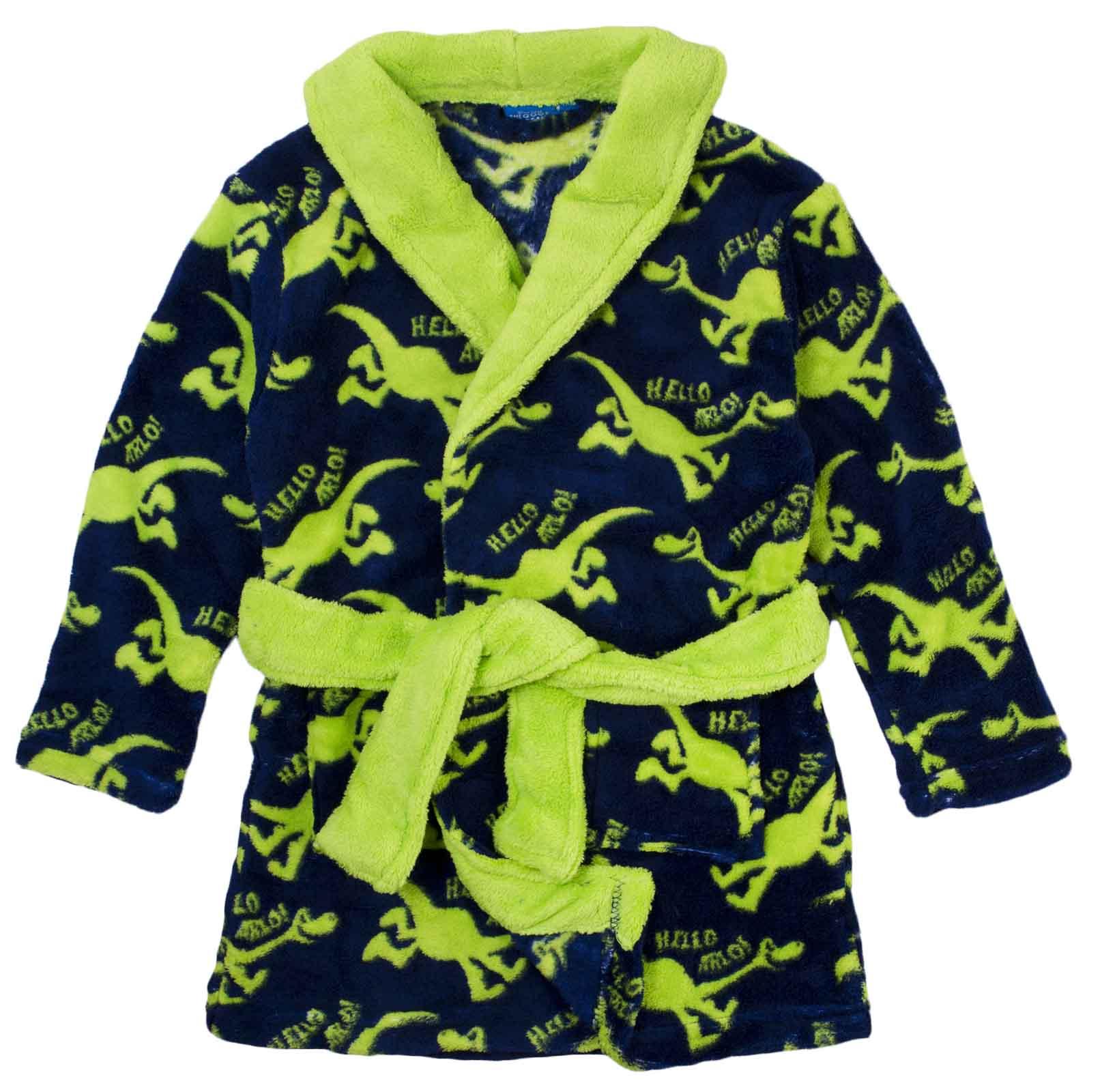 Boys Disney The Good Dinosaur Arlo Spot Fleece Dressing Gown Bath