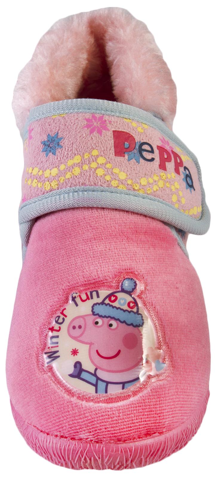 Niños Niñas Peppa Pig Novedad Pantuflas Polar carácter Botas Regalo Talla Uk 4 - 11