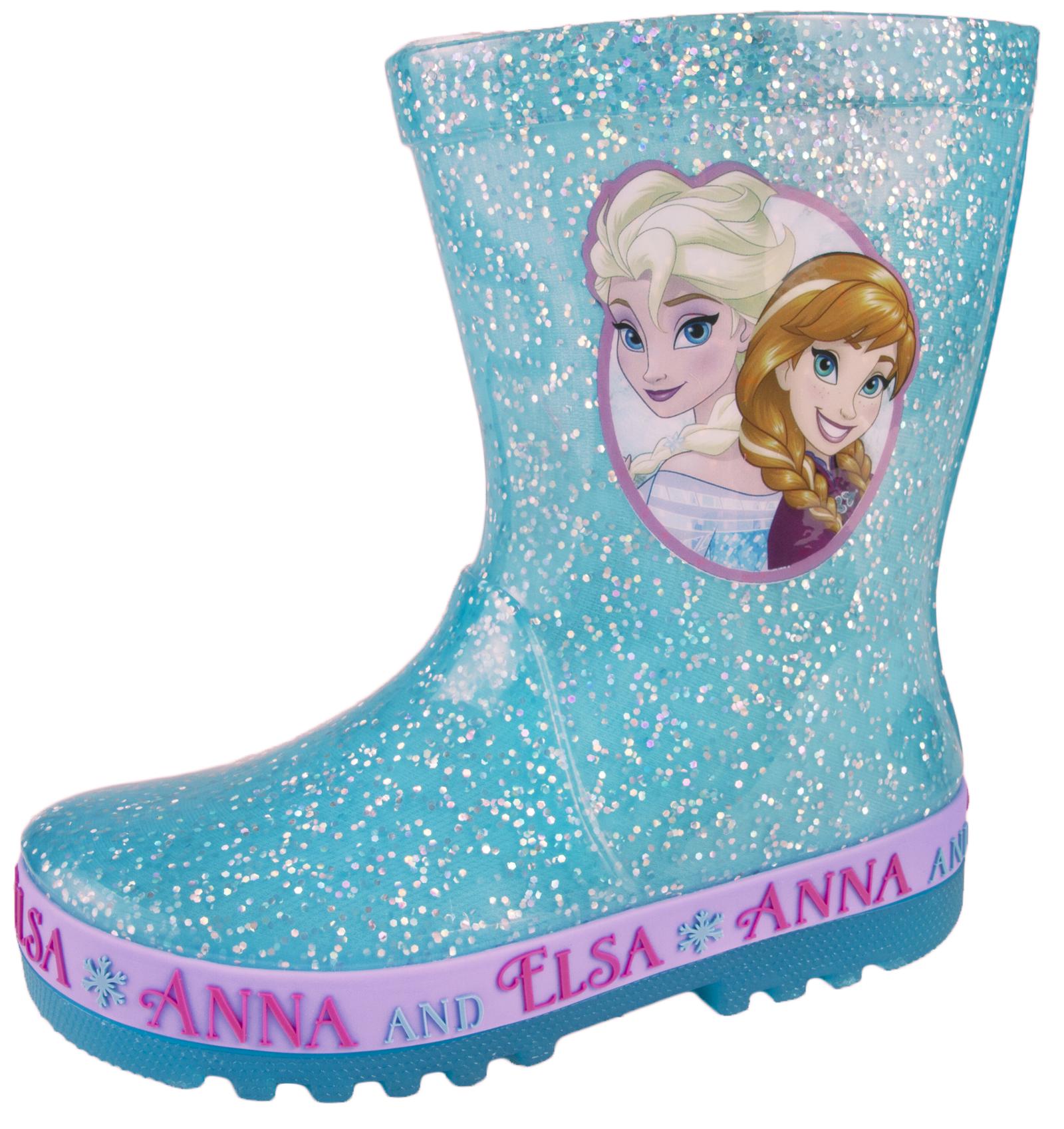 Disney Frozen Light Up Wellington Boots Flashing Elsa