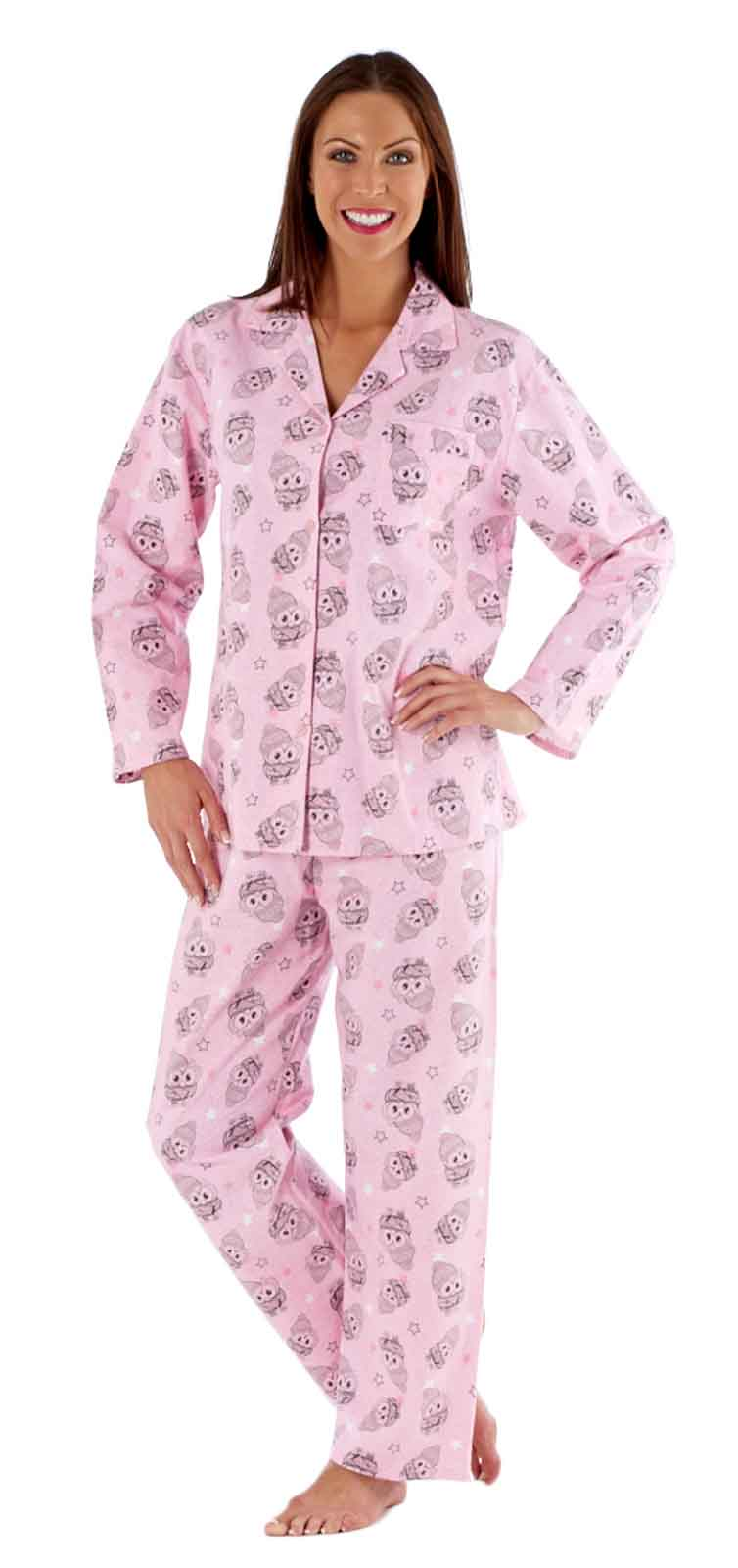 luxury womens fleece pyjamas full length warm winter traditional nightwear size ebay On nightwear winter