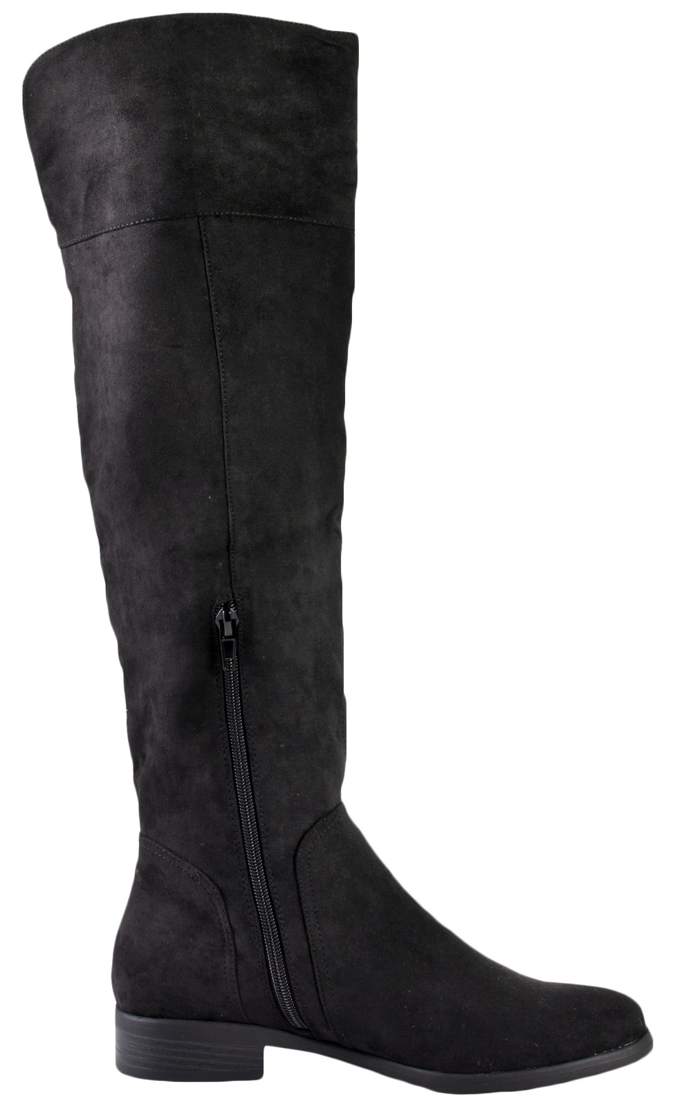 womens faux suede leather thigh high boots