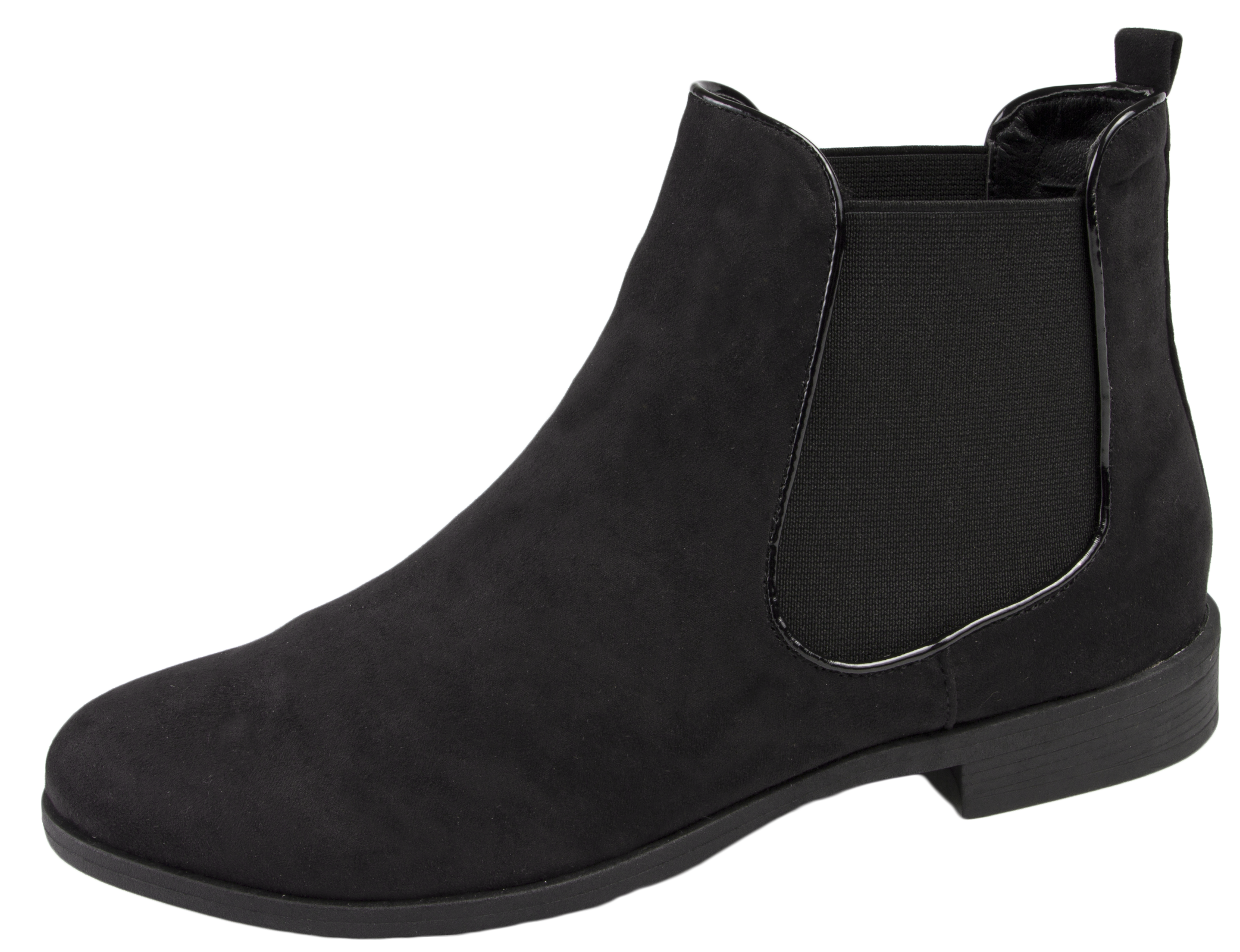 Elegant Womens Ladies Winter Real Leather Flat Gusset Pull On Ankle Chelsea Boots Size | EBay
