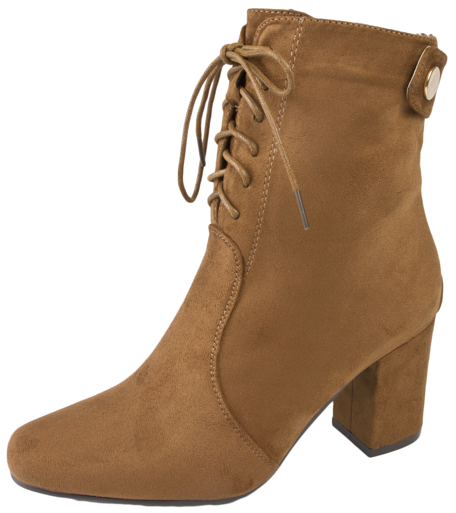Elegant WOMENS LACE UP ANKLE BOOTS HIGH BLOCK PLATFORM HEEL SUEDE SHOES LADIES NEW 3-8 | EBay