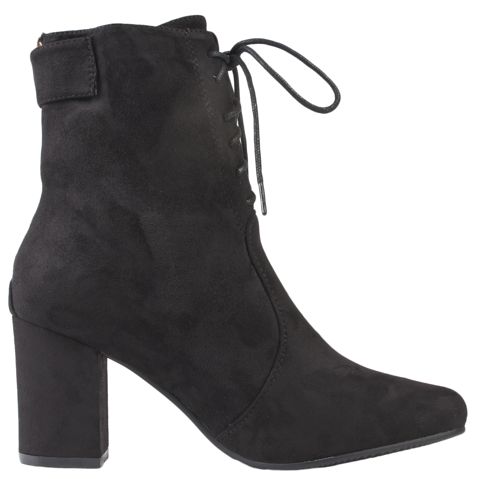 Wonderful Womens Tassel Ankle Boots Chunky Low Block Heel Faux Suede Shoes Size UK 3-8 | EBay