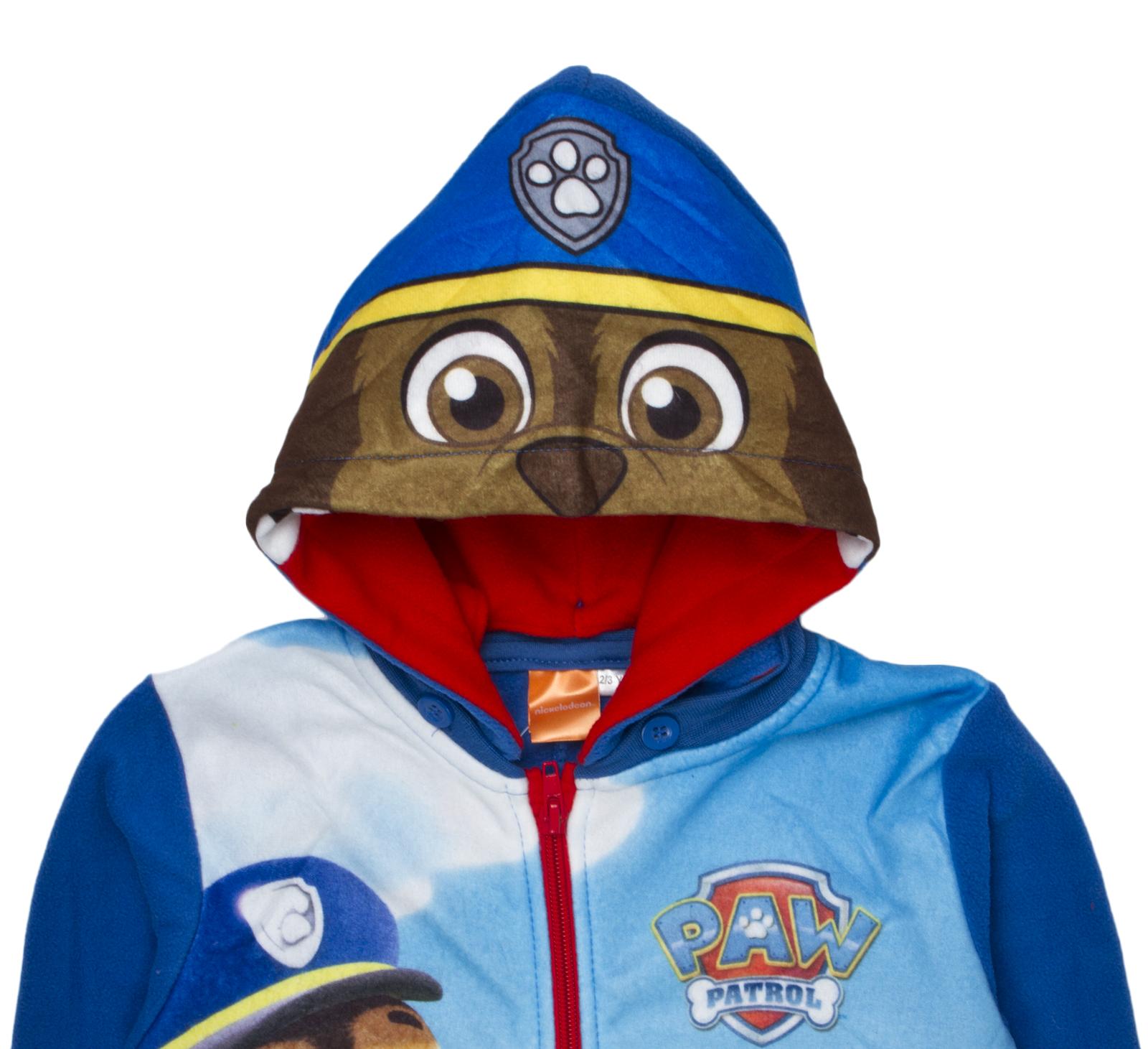 2b3c46c8367e Details about Paw Patrol Fleece Jumpsuit Reversible Hood Pyjamas All In One  Pjs Boys Girls