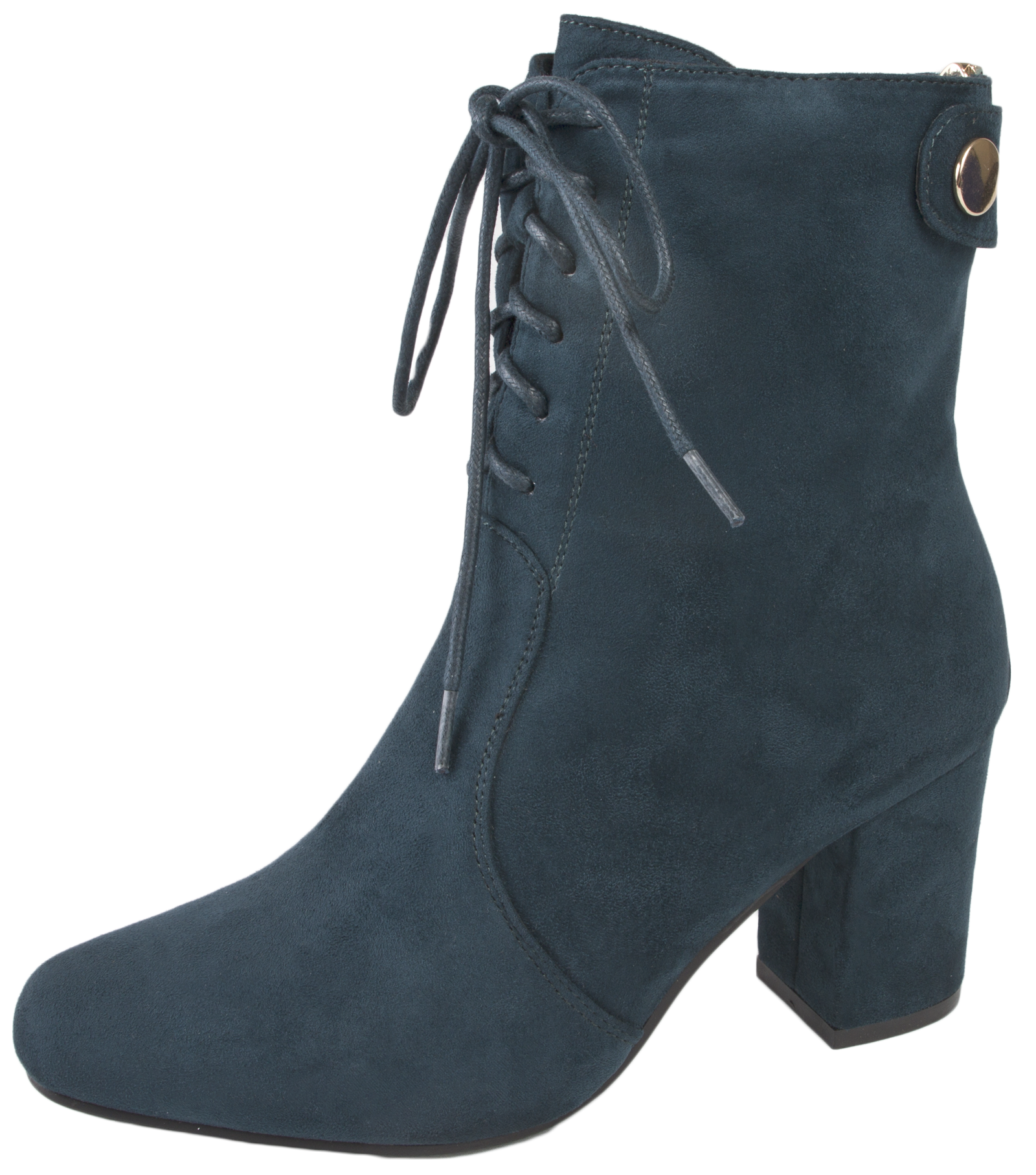 Wonderful Womens Chunky Block Heel Chelsea Ankle Boots Faux Suede Shoes Girls Size UK 4-8 | EBay