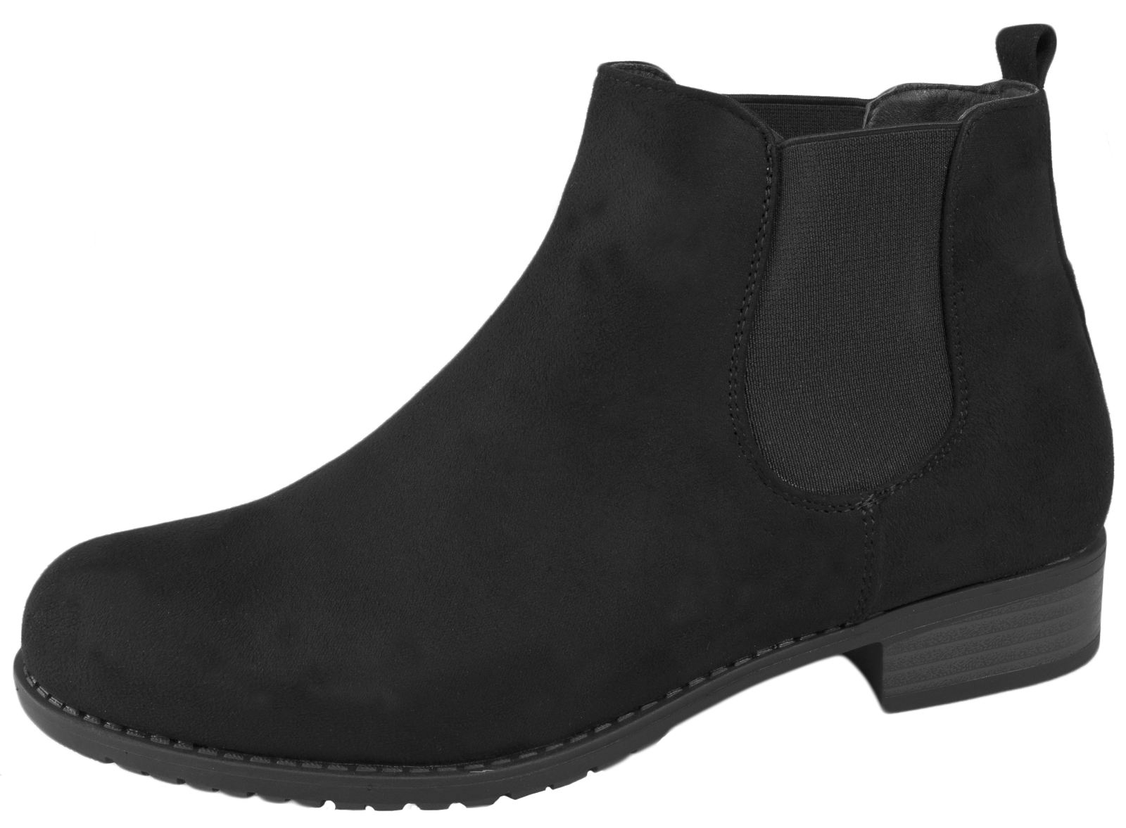 Womens Flat Chelsea Ankle Boots Slip On Gusset Warm Winter Shoes Size UK 3 - 8 | EBay