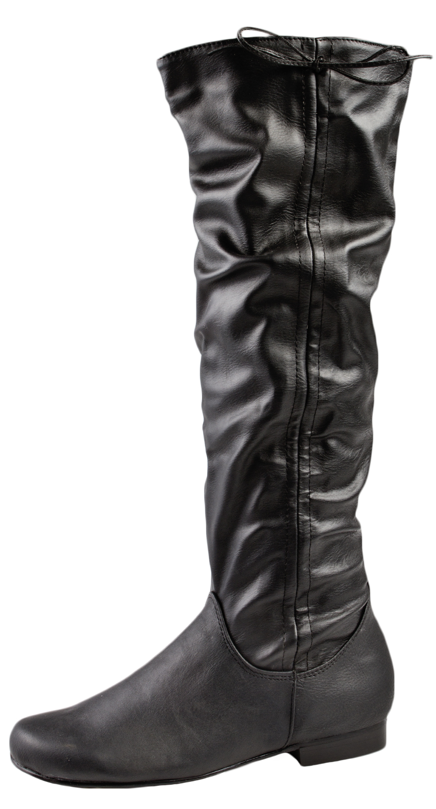 womens faux leather knee high boots flat warm