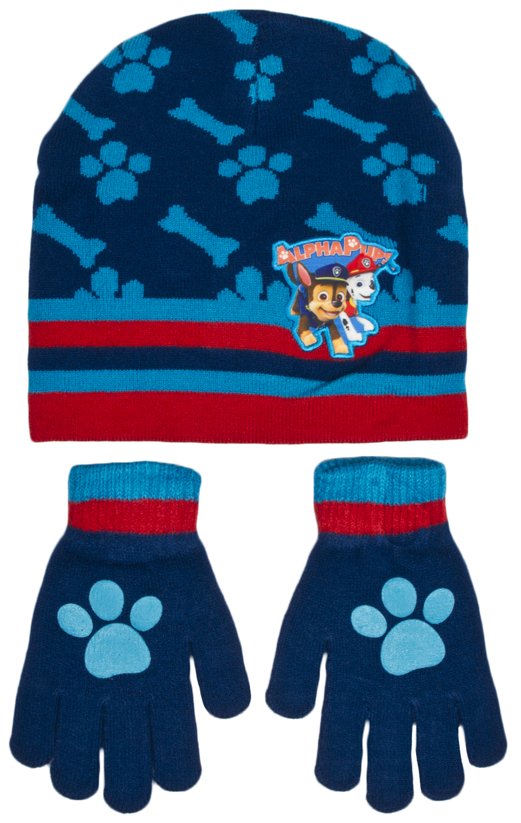 f6514c300b9 Boys Paw Patrol Chase Childrens Winter Beanie Hat   Gloves Official Set  54798