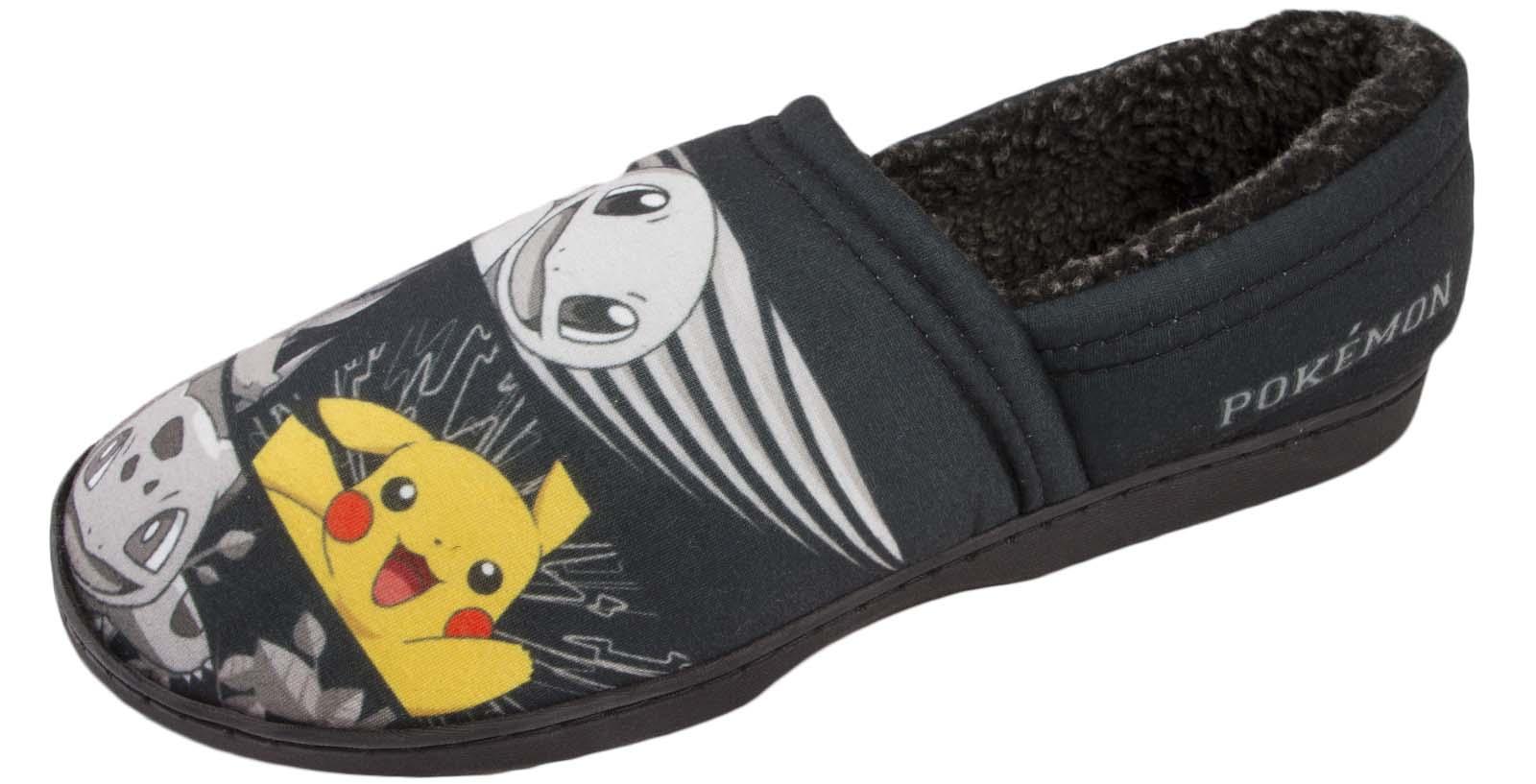 Para Hombre Zapatillas De Pokemon Pikachu comodidad Mulas Novedad indoort Zapatos Regalo Chicos Tamaño