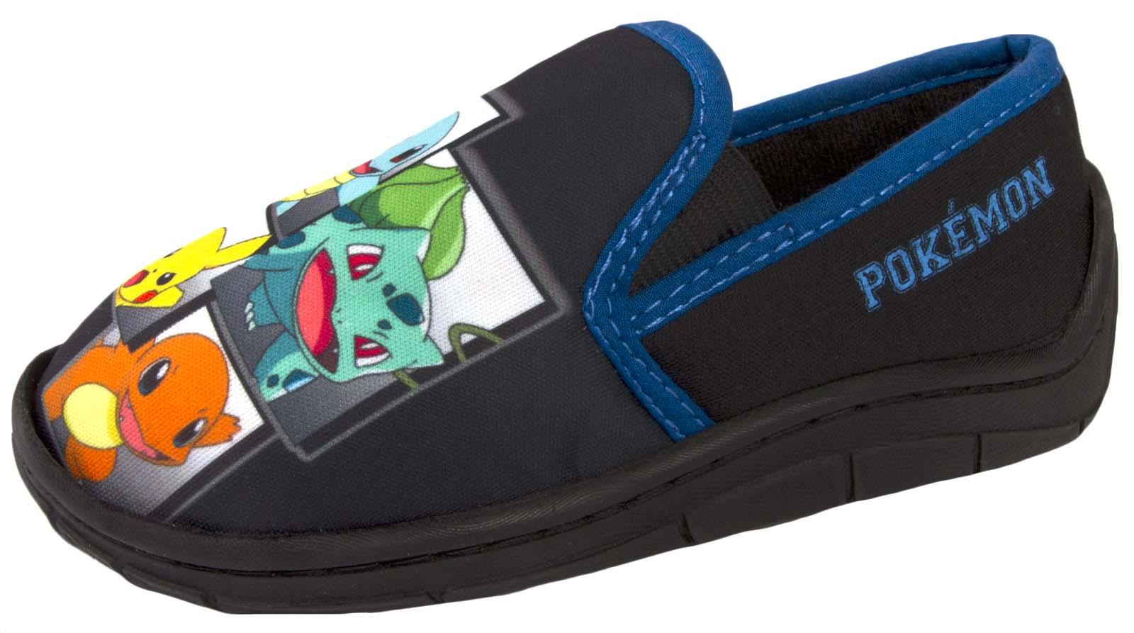 Chicos Zapatillas De Pokemon Pikachu comodidad mulas House Shoes Kanto Arrancadores Niños Talla