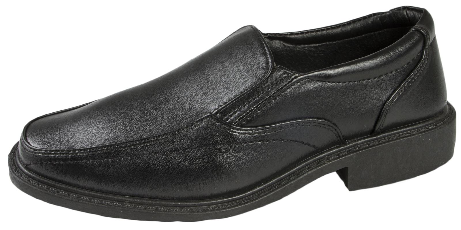 Black Faux Leather Formal Shoes