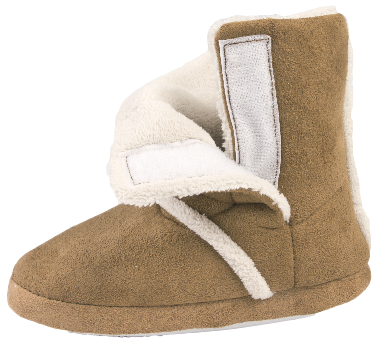 These Dearfoams women's sherpa fleece-lined cross stitch scuff slippers have comfort, style and wonderful warmth. A memory foam insole cradles your feet, while the soft sherpa fleece cuff and lining keeps you warm and cozy.