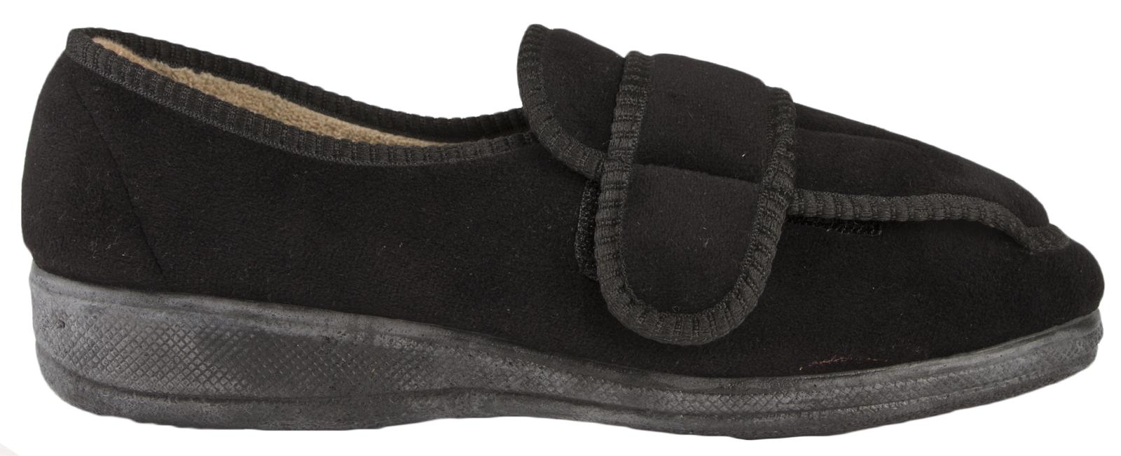 Da Donna Memory Foam Pantofole diabetici Lavabile Comfort Scarpe Wide Fit ORTOPEDICO