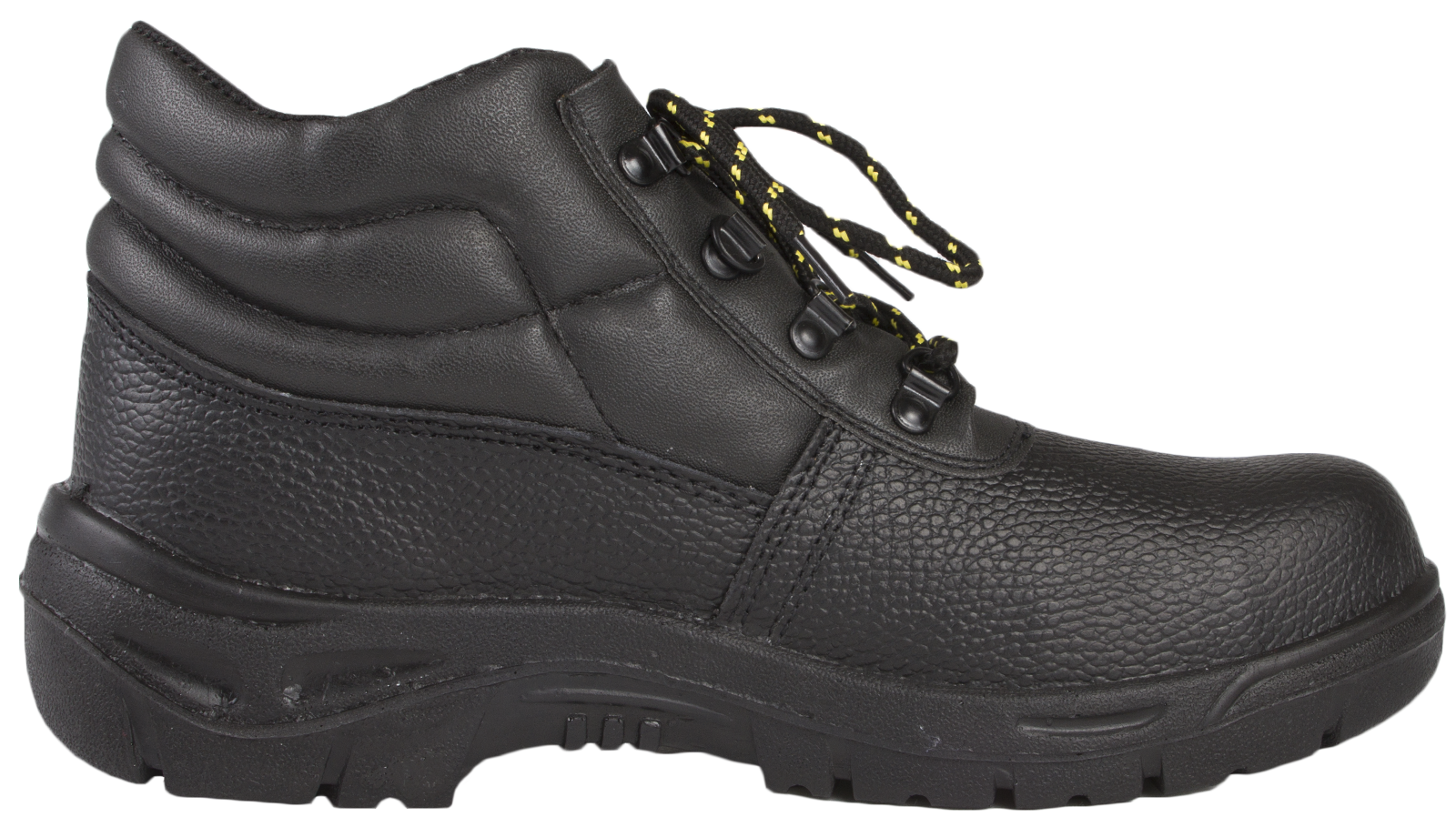 Mens Steel Toe Cap Safety Black Leather Ankle Boots Non Slip Work Shoes Size | EBay