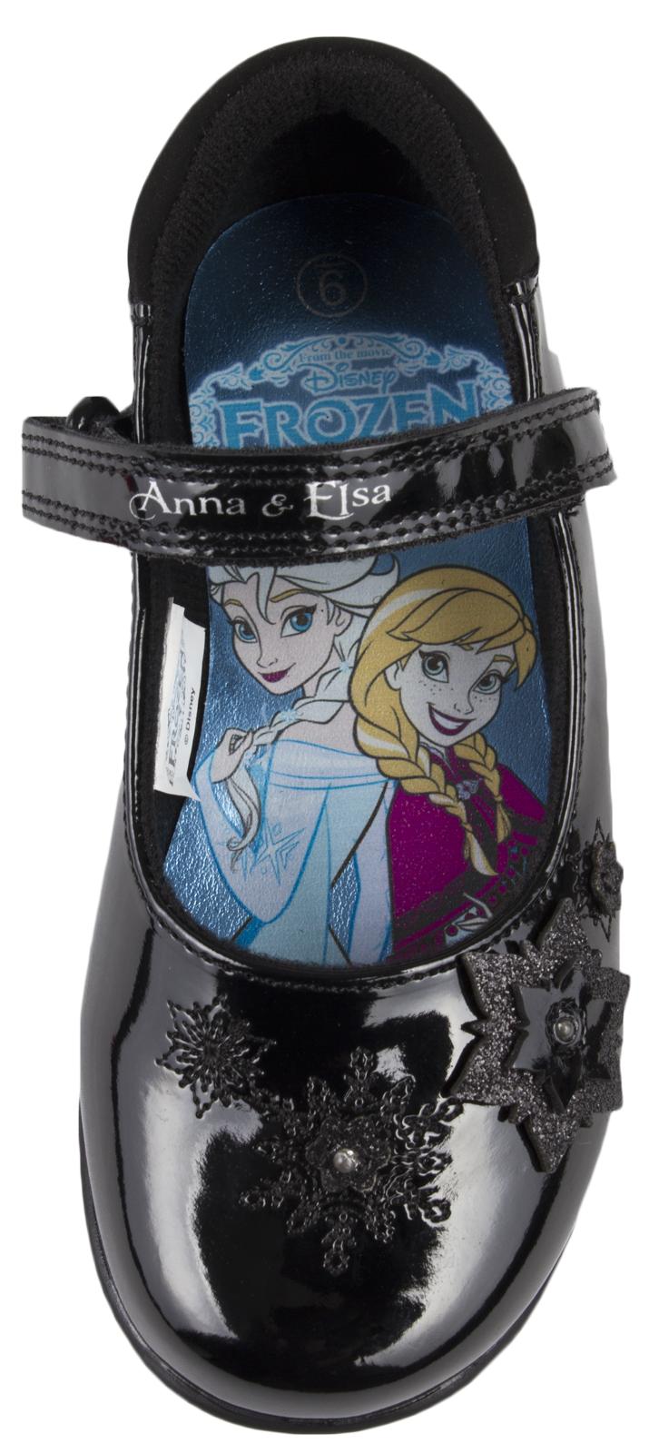 Disney Frozen Black School Shoes Flashing Light Up Faux
