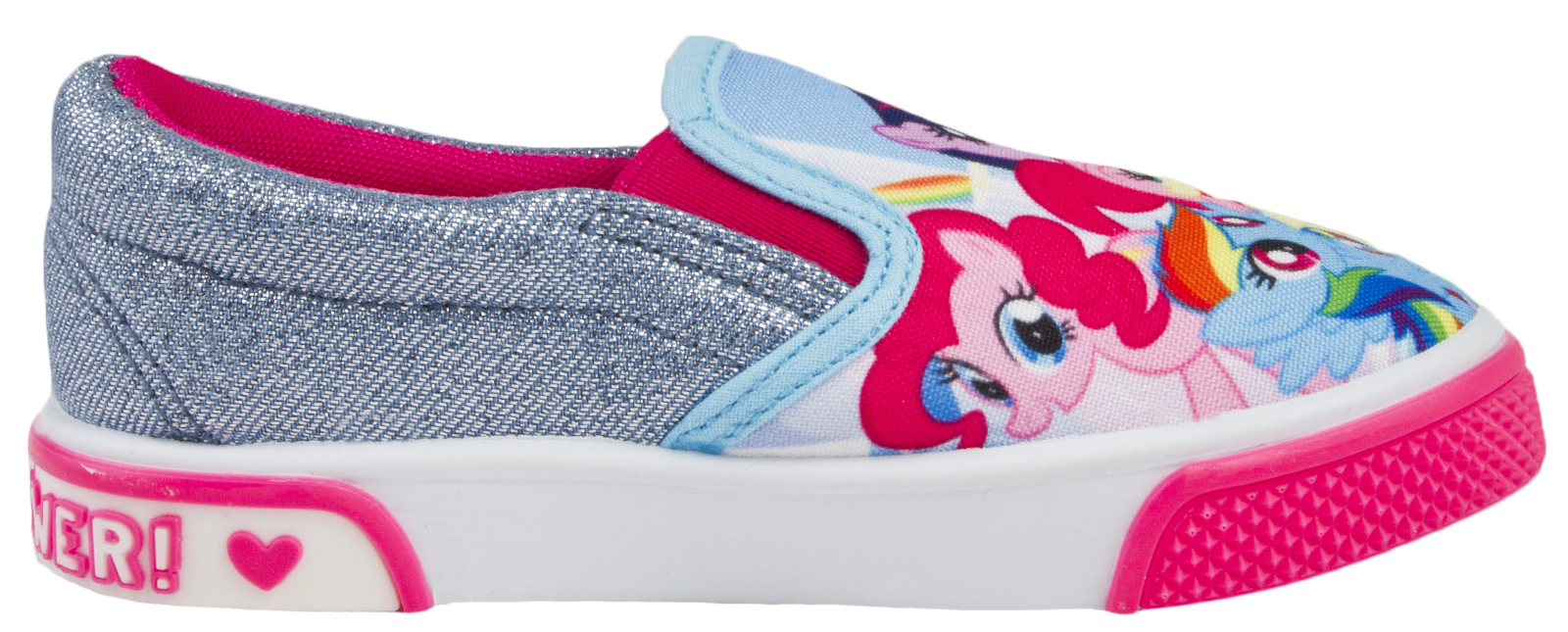 Girls My Little Pony Skate Shoes Slip On Canvas Pumps Flat Trainers Kids Size