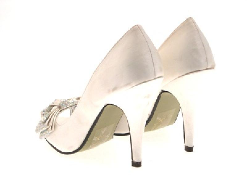 BRIDAL WEDDING SATIN LADIES HEELS PEEP TOES SHOES 3-8