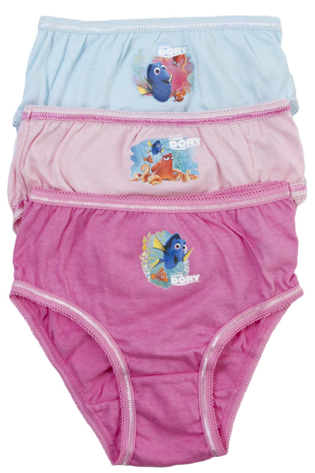 3 Pairs Girls Character Underwear 100% Cotton Knickers ...