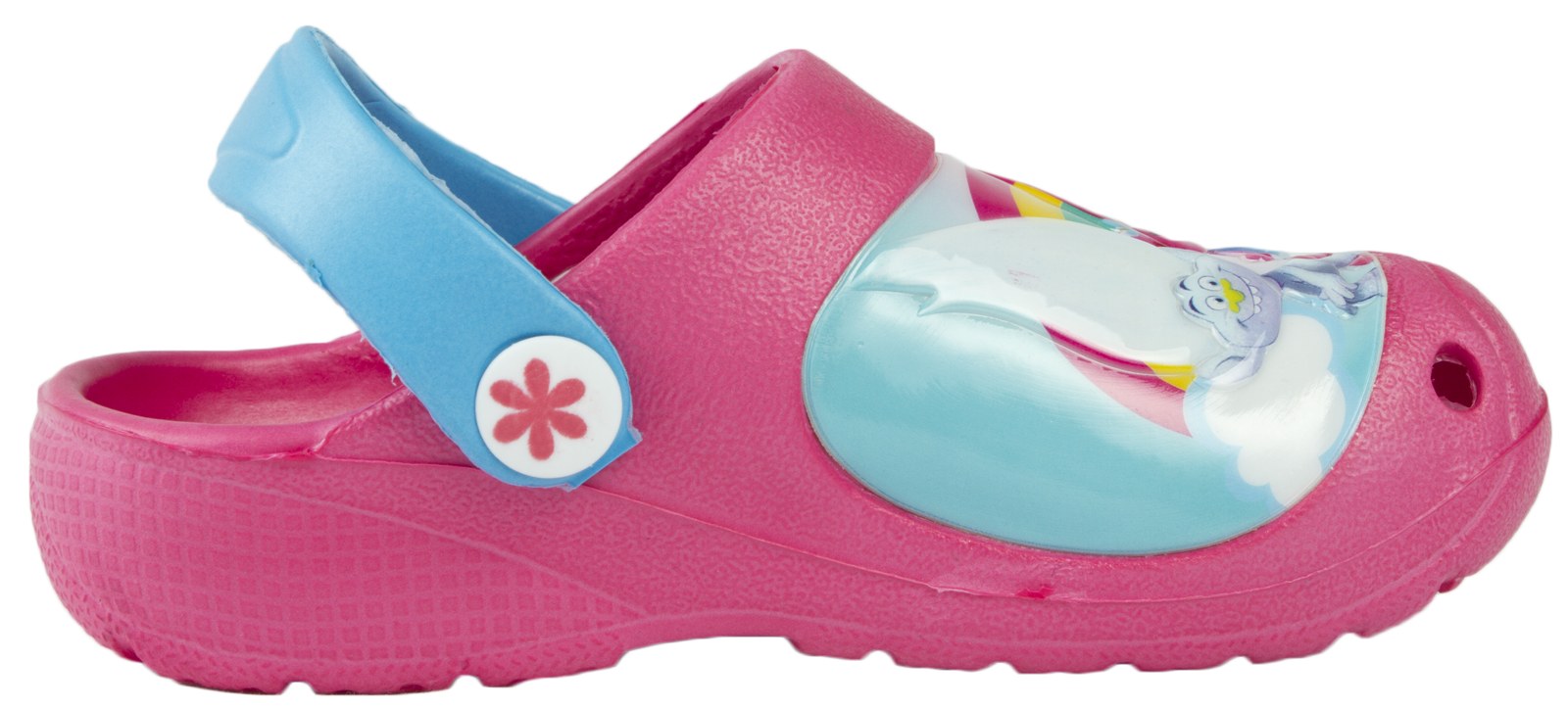 Trolls Clogs Pink Beach Sandals Flat Holiday Shoes Summer Mules Poppy Kids Size