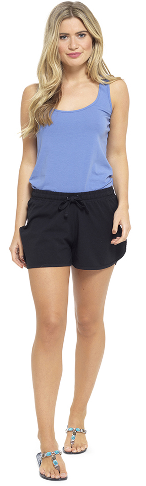 Womens Jersey Cotton Shorts With Elasticated Waist Holiday ...